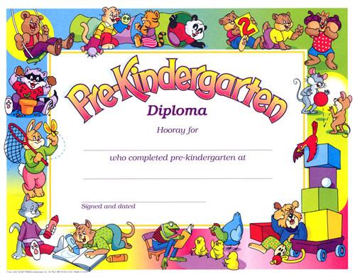 Diplomas en preescolar - Imagui