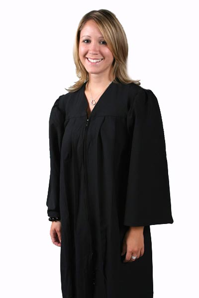 Matte Choir Gown Bachelor Gown,gown,college,faculty,choir,Deluxe Choir Gown,matte