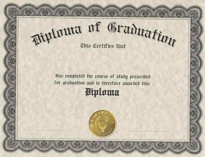 diploma cover w stock printed diploma