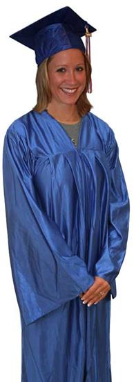 Shiny Cap Gown and Tassel Set