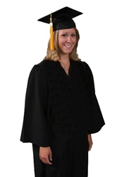 Bachelor college university Graduation Cap and Gown