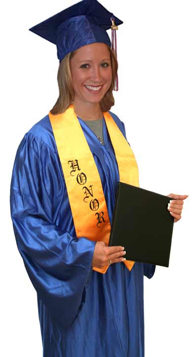 Adult High School graduation cap and gown set